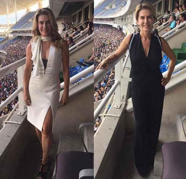 Maitê publicou uma montagem com duas fotos na rede social, usando roupas diferentes: