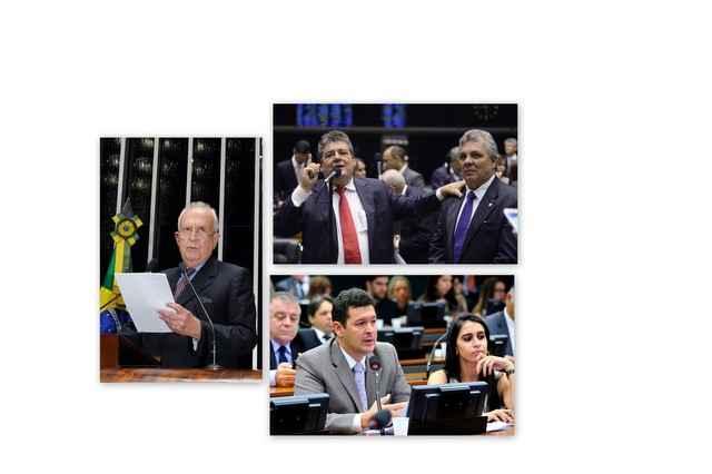 Jarbas e Betinho Gomes, da oposição, veem decisão como um retrocesso (Montagem sobre fotos de Waldemir Barreto/Agência Senado, Gustavo Lima/Camara dos Deputado, Roberto  Luis Macedo/Câmara dos Deputados. Da esquerda para a direita )
