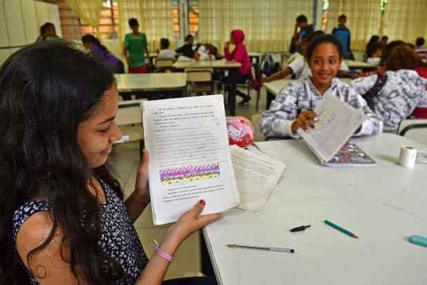 A Escola Municipal Presidente Campos Salles, em Heliópolis, é considerada exemplo de integração escola-comunidade. Foto: Rovena Rosa/Agência Brasil
