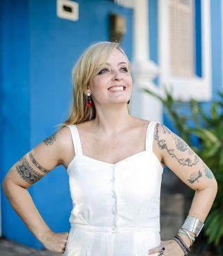 Dani pretende continuar a trabalhar com estamparia. Foto: Andrea Rego Barros/Divulgação