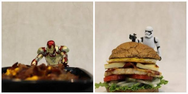 Bonecos de personagens de filmes como Homem de ferro e Star wars, chamam atenção na Comic.com