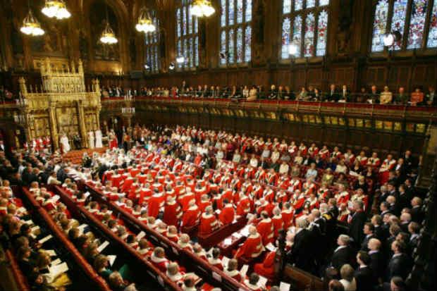 Registro de uma reunião da Câmara dos Lordes, em Londres. Foto: POOL/AFP ADRIAN DENNIS