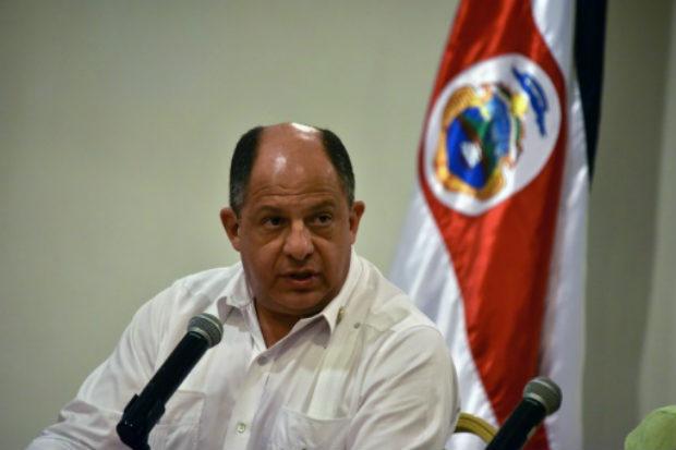 O presidente da Costa Rica, Luis Guillermo Solís, durante uma entrevista coletiva em um hotel de Havana em 15 de dezembro. Foto: AFP Adalberto Roque