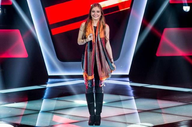 Bella Schneider vence quadro do Caldeirão do Huck e garante presença na final do The Voice, na próxima sexta-feira. Foto: TV Globo/ Divulgação