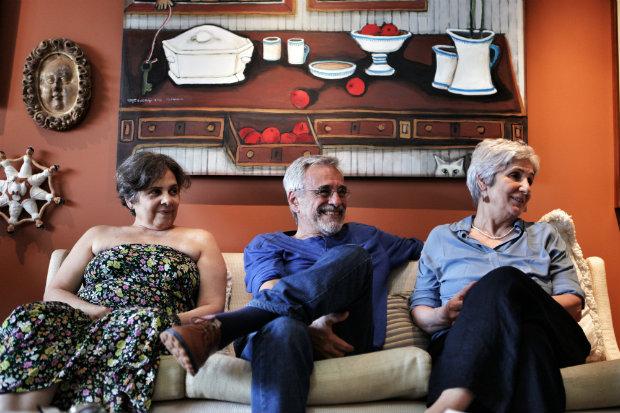 Augusta, Aderbal e Juliana, que formam o trio de protagonistas, cederam entrevista coletiva sobre o projeto. Fotos: Beto Figueiroa/ Divulgação