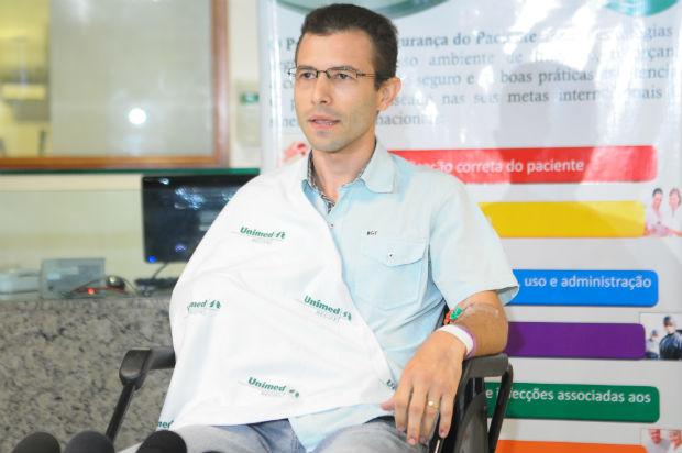 """""""São novos desafios que eu vou enfrentar na minha profissão, mas eu acredito que eu vou conseguir"""", disse o paranaense. Foto: João Velozo / Esp. DP"""