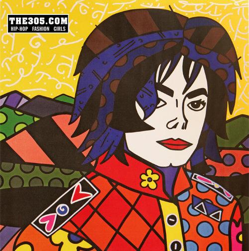 Michael Jackson. Arte: Romero Britto