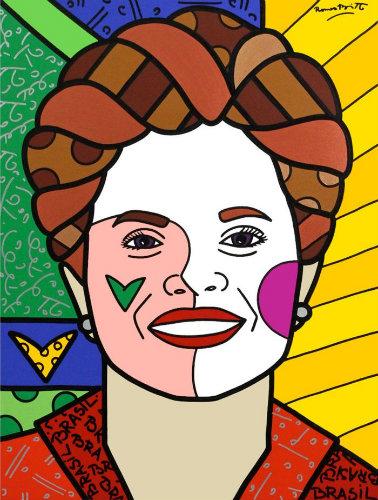 Dilma Roussef. Arte: Romero Britto
