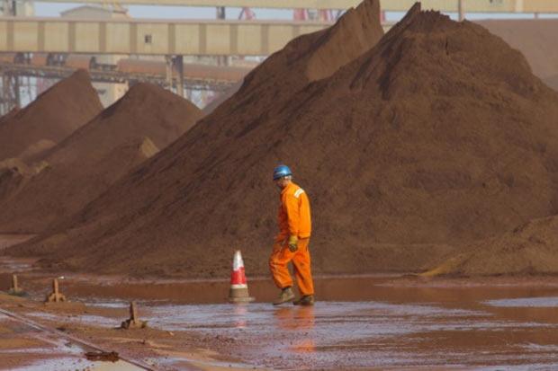 Preços do minério de ferro despencaram abaixo dos US$ 40 no começo de dezembro de 2015, seu menor nível desde maio de 2009. Foto: AFP/Arquivos.