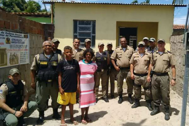 Casa em alvenaria erguida pelos policiais tem dois quartos, sala, cozinha e banheiro.Foto: cabo Adriana Ventura/ Cortesia