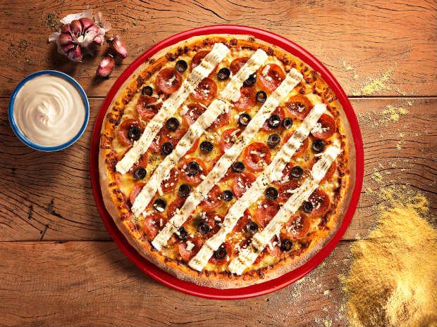 Pizza Pepperrock aposta em sabores mais apimentados. Foto: Divulgação/ Handam