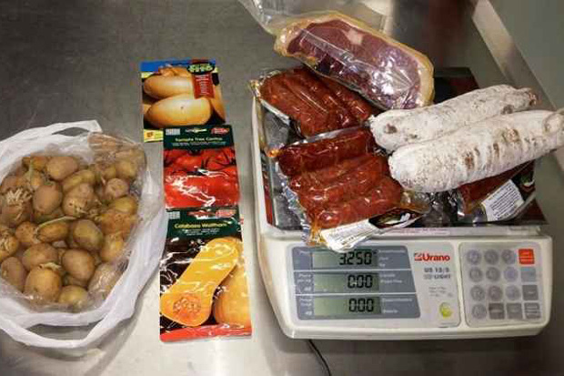 Embutidos, como salame e presunto, estão entre as principais apreensões no Brasil. Foto: Gustavo Moreno/CB/D.A. Press