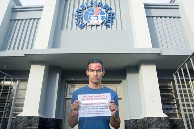Bruno pede que Assembleia de Deus também seja responsabilizada, já que supostos abusos teriam acontecido dentro do templo. Foto: Emerson Bithencourt/Cortesia