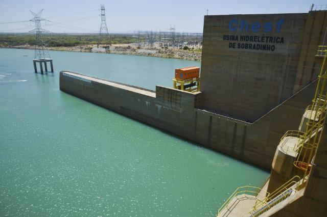 Chuvas na bacia do Rio São Francisco devem elevar o volumu útil  da barragem de Sobradinho para 6¢ este mês