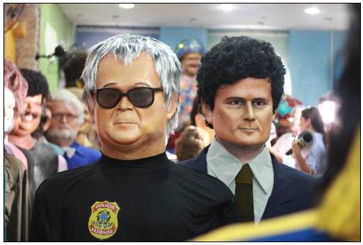 Personagens do cenário político são transformados em bonecos gigantes.Foto: Brenda Alcantara/ Esp. DP
