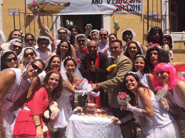 Casal já passou cinco carnavais em Olinda. Foto: André Clemente/DP
