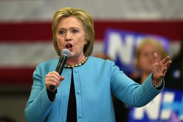 Hillary Clinton, em Manchester, New Hampshire, no dia 8 de fevereiro de 2016. Foto: Don Emmert/AFP