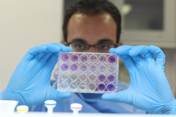 Lindomar Penna, pesquisador do setor de virologia. Foto: Brenda Alcântara/Esp. DP