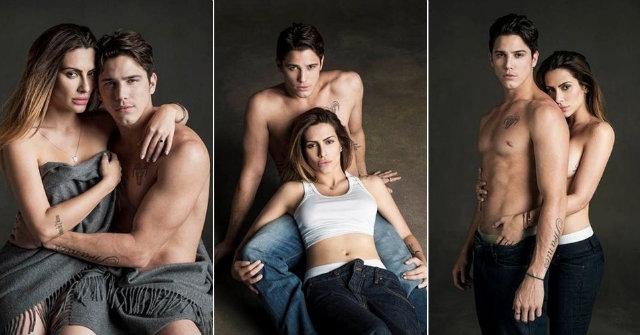 Cleo Pires e Rômulo Neto posam para o fotógrafo J.R. Duran em ensaio para a revista RG. Foto: JR Duran/Divulgação