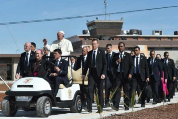 O papa Francisco visita penitenciária, em Ciudad Juárez, México, no dia 17 de fevereiro de 2016. Foto: Gabriel Bouys/AFP