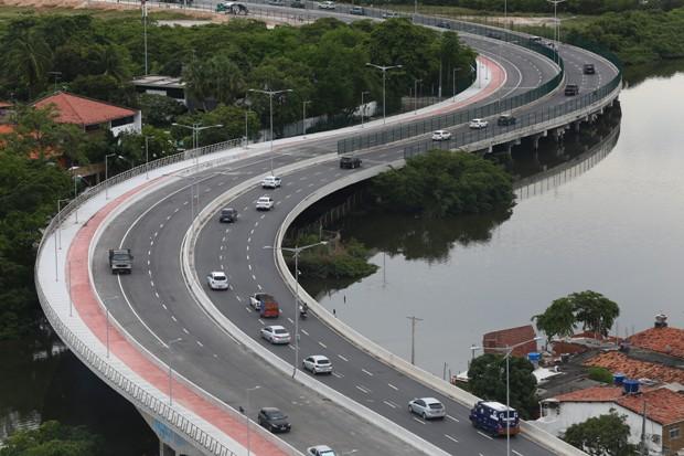 Via Mangue dá mais fluidez ao trânsito na Zona Sul do Recife. Foto: Peu Ricardo/DP/DA Press