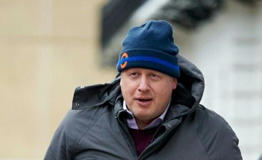 O prefeito de Londres, Boris Johnson, em Londres, no dia 21 de fevereiro de 2016. © AFP NIKLAS HALLE'N