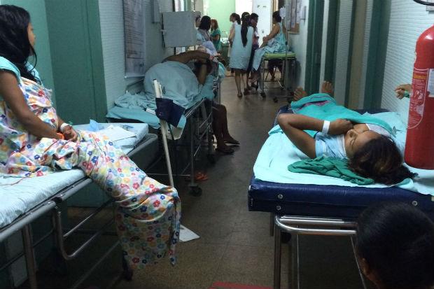 Só hoje, 54 grávidas estão sendo atendidas no HAM, que tem capacidade para 15 pacientes. Foto: Cortesia