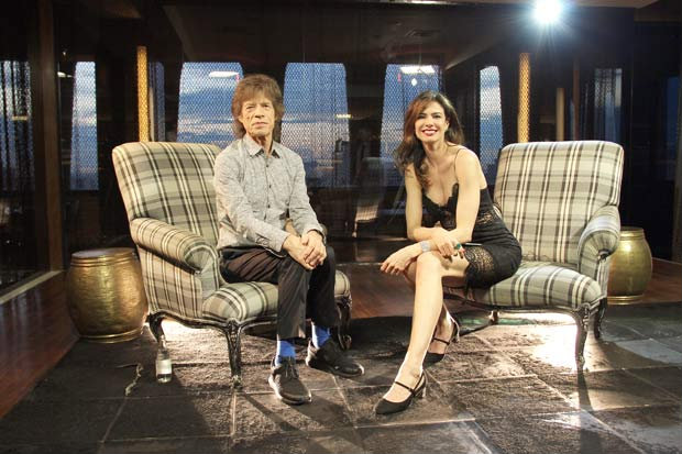 Luciana Gimenez entrevista Mick Jagger. Foto: RedeTV!/Divulgação (Foto: RedeTV!/Divulgação)