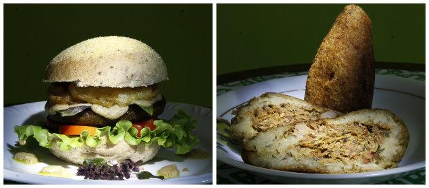 Hambúrgueres e salgados também aparecem sem proteínas animais. Fotos: Ricardo Fernandes/DP