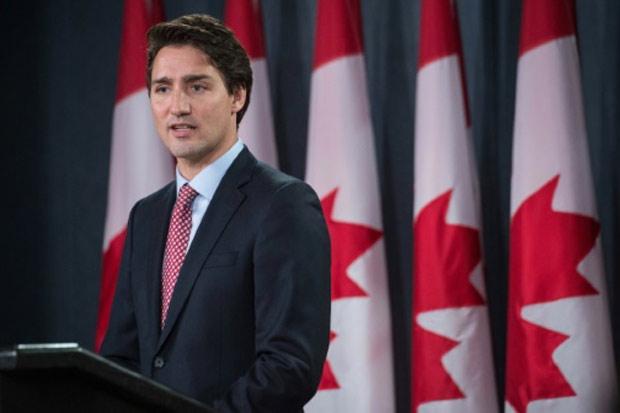 O primeiro-ministro canadense Justin Trudeau, durante uma coletiva de imprensa, em Ottawa, no dia 20 de outubro de 2015. Foto: Nicholas Kamm/AFP/Arquivos