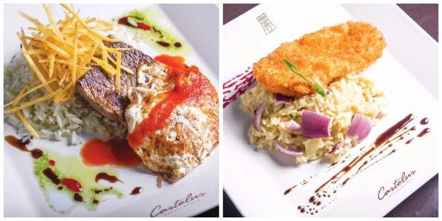 Entre as opções estão o Bife a cavalo (esq.) e O escalope de frango empanado (dir.). Foto: Jupiter Comunicação/Divulgação
