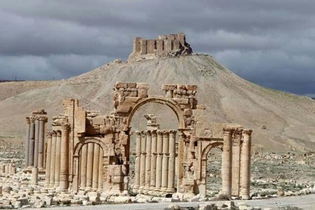 Vista de uma parte da cidade de Palmira, na Síria, em 14 de março de 2014. Foto: Joseph Eid/AFP/Arquivos