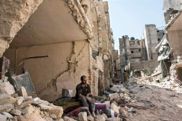 Iniciada há quase seis anos, a revolta na Síria contra o regime de Bashar al-Assad se transformou em uma devastadora guerra, que já deixou mais de 270 mil mortos, metade da população deslocada e um país em ruínas. Foto: Karam al-Masri/AFP