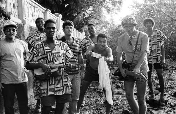 Chico Science, Mundo Livre S/A e os integrantes da banda de samba-reggae Lamento Negro. Foto: Gil Vicente/DP