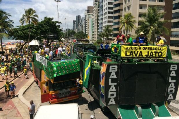 Estrutura do evento conta com três trios elétricos E um carro de som. Foto: Sávio Gabriel/ DP