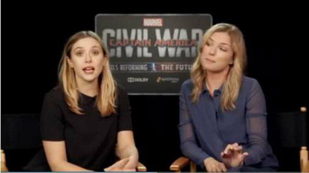 Elizabeth Olsen e Emily VanCamp apresentam o projeto em vídeo. Foto: YouTube/Reprodução