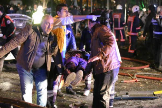 Vítima de atentado em Ancara em 13 de março de 2016. Foto: Erol Ucem/AFP