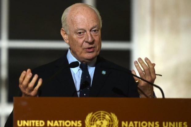 O emissário da ONU para a Síria, Staffan de Mistura, em Genebra, no dia 15 de março de 2016. Foto: Philippe Desmazes/AFP