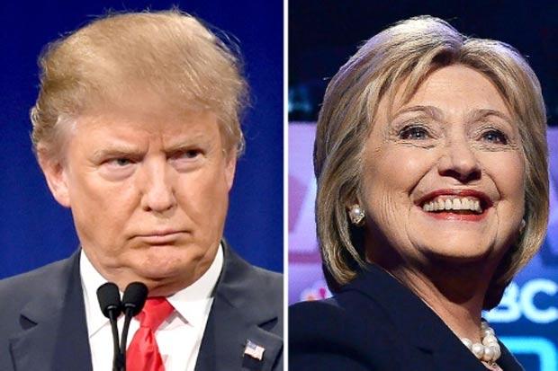 Os pré-candidatos Donald Trump e Hillary Clinton. Foto: AFP
