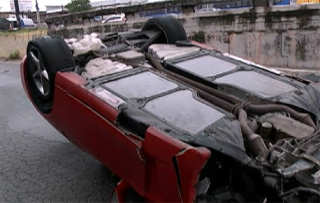 O acidente aconteceu no início da manhã desta quarta-feira. Foto: TV Clube/Reprodução