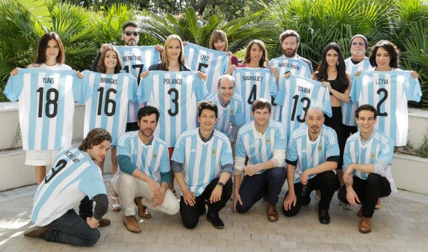 Estrelas do elenco da Netflix estiveram em Buenos Aires apresentando destaques da programação. Crédito: Netflix/Divulgação