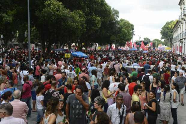 Manifestantes se reuniram na Praça XV, no Rio. Foto: Tomaz Silva/Agência Brasil