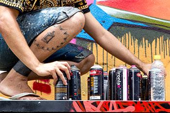 Dar voz às lutas da periferia é um dos objetivos centrais do graffiti enquanto expressão artística. Foto: Josivan Rodrigues/Divulgação