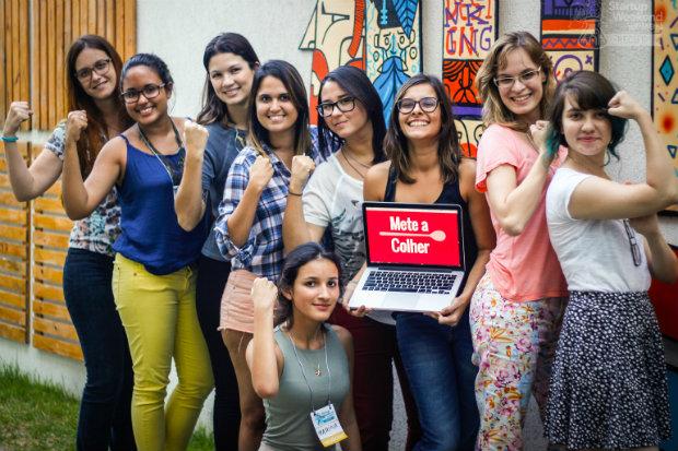 O aplicativo foi desenvolvido durante a Startup Weekend Women.Foto: Flora Lins/Divulgação.