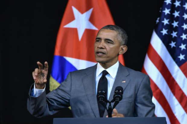 O presidente americano, Barack Obama, discursa em Havana. Ele condenou os revoltantes atentados no aeroporto e no metrô de Bruxelas que deixaram nesta terça-feira ao menos trinta mortos e 200 feridos. Foto: © AFP Nicholas Kamm