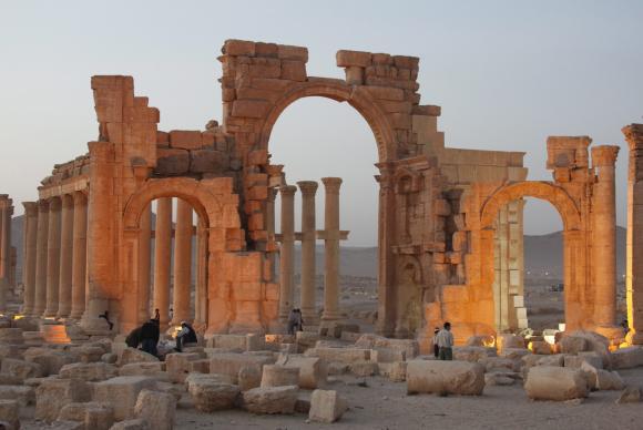 As ruínas da antiga cidade de Palmira ficam na região central da Síria. Foto: Youssef Badawi/EPA/Agência Lusa