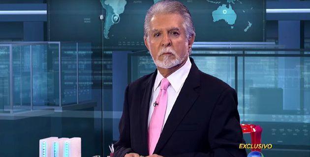 Apresentador trocou a gravata para gravar programa jornalístico. Foto: Record/Reprodução