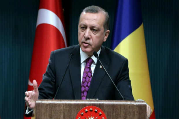 O presidente turco, Recep Tayyip Erdogan, em Ancara, no dia 23 de março de 2016. Foto: Kayhan Ozer/Turkish Presidential Press Office/AFP