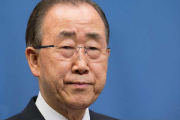 O secretário-geral das Nações Unidas, Ban Ki-moon, em Estocolmo, no dia 30 de março de 2016. Foto: Jonathan Nackstrand/AFP