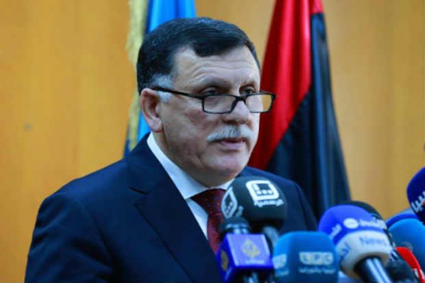O chefe do governo de união nacional líbio, apoiado pela ONU, Fayez al-Sarraj, em Trípoli, no dia 30 de março de 2016. Foto: AFP